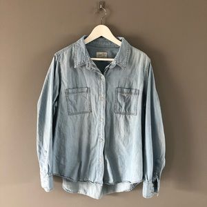 Universal Thread Blue Denim Button Down XXL
